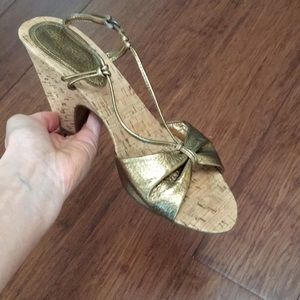 Bronze high heel sandals